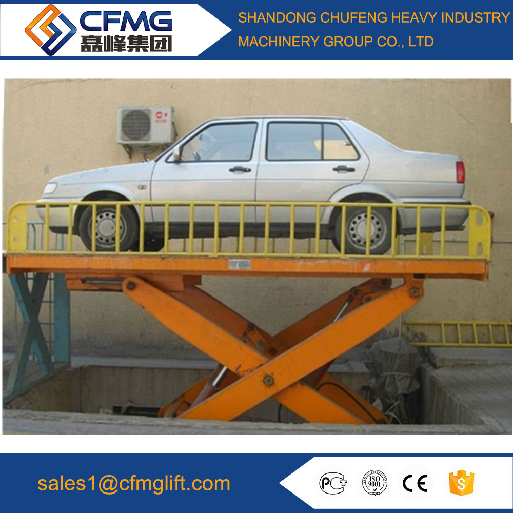 Scissor type portable hydraulic used car lifts for sale stationary scissor elevator