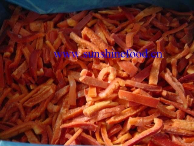 IQF red pepper stripes, best price