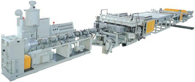 PC/PE/PP Hollow Cross Section Plate Extrusion Line