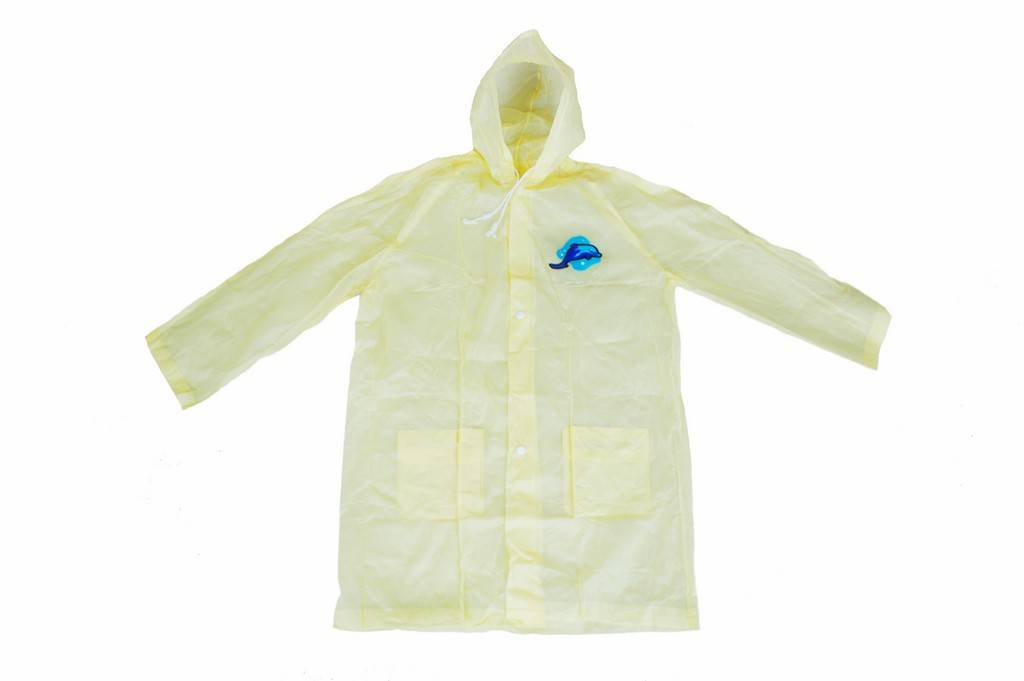 R-1058 YELLOW ADULT PVC VINYL RAIN WOMENS WATERPROOF JACKETS