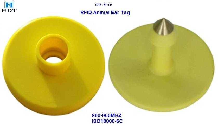 34X15mm UHF Animal Tracking Ear Tag (HDT)