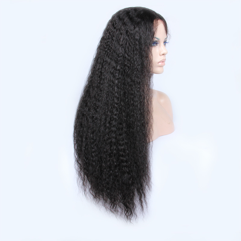 2017 new style long length human hair lace front wigs with baby hair