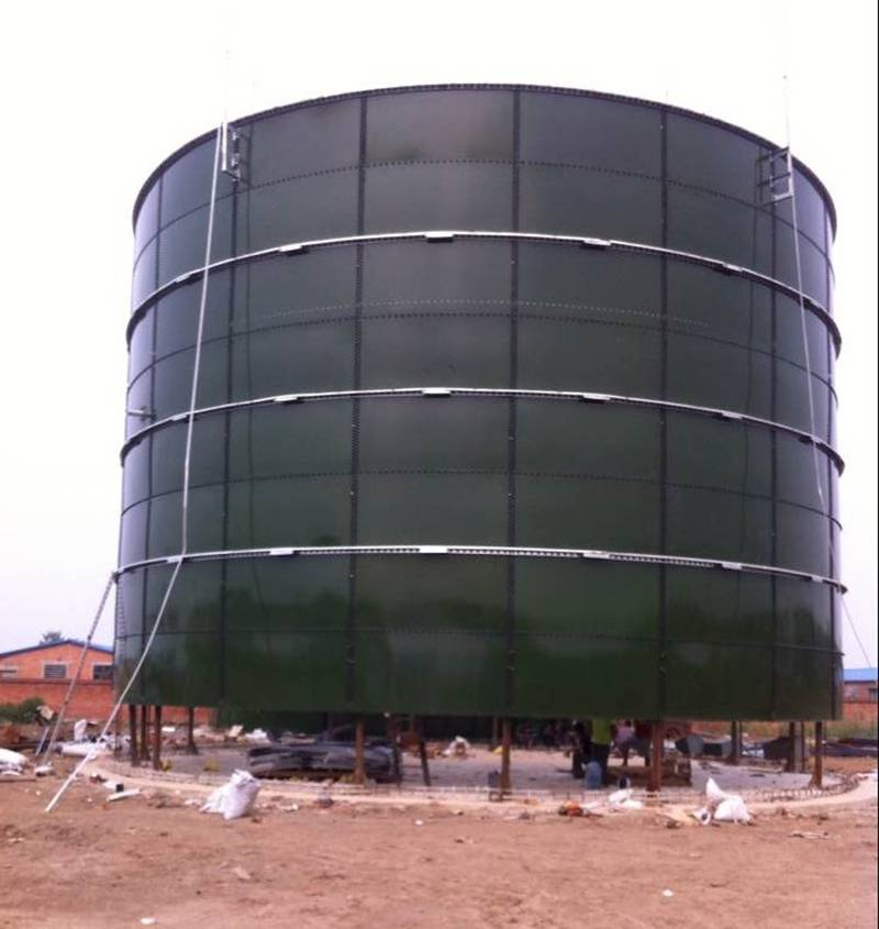 Glass fused to steel tank is used in waste water treatment plant
