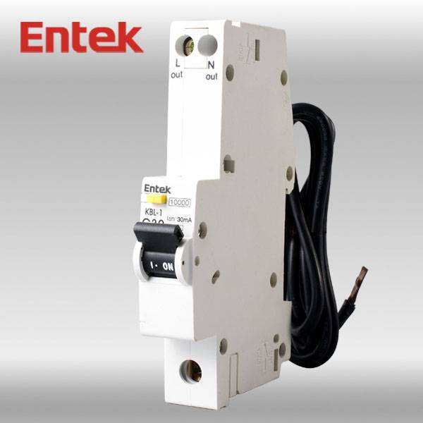 Residual Circuit Breaker with Overcorrect protection (RCBO) 1P+N CE 20A