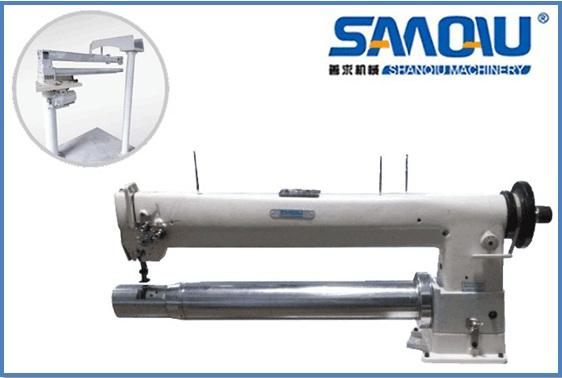 Filter bag sewing machine--tubular long arm filter bag sewing machine