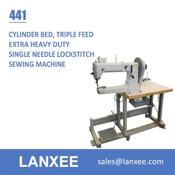 Lanxee 441 One Needle Cylinder Bed Heavy Duty Sewing Machine