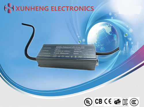 30W Waterproof LED Power Supply with Constant Current, Accept OEM/ODM