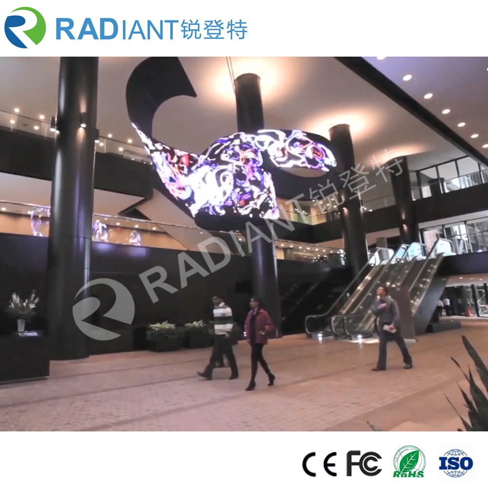 wholesale P6.0 pixels high glass full color vivid indoor HD flexible LED display screen