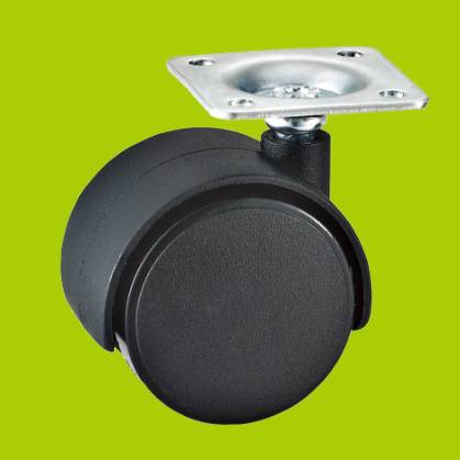 swivel top plated furniture nylon caster(without brake)
