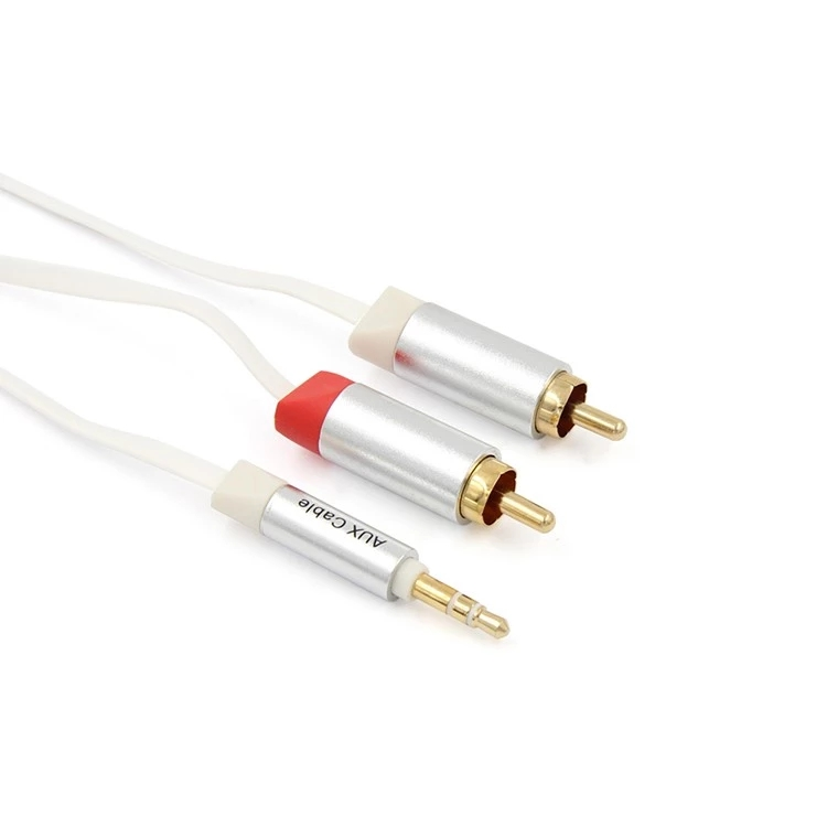HiFi Stereo AUX Audio Cable 3.5mm to 2 RCA Jack male to male Audio Extention Cable for sound Speaker