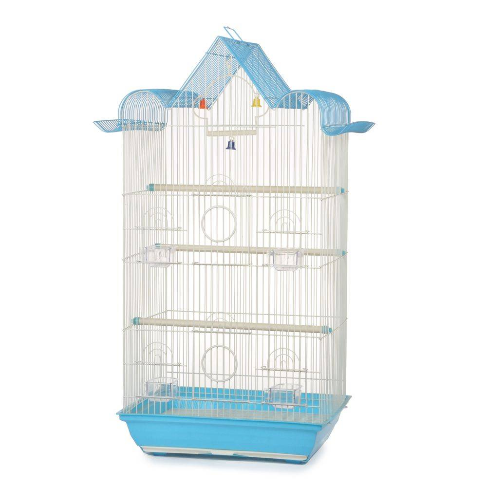 Antique metal bird cage 37X28X72cm