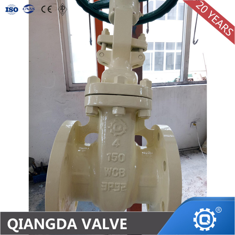 API/ANSI cast steel/stainless steel flange gate valve