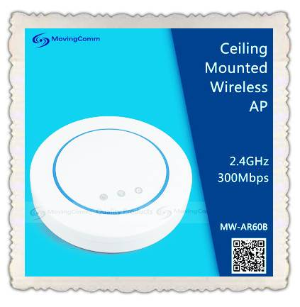 AR9341 2.4G 300Mbps Wireless Ceiling AP for school,hosptial application