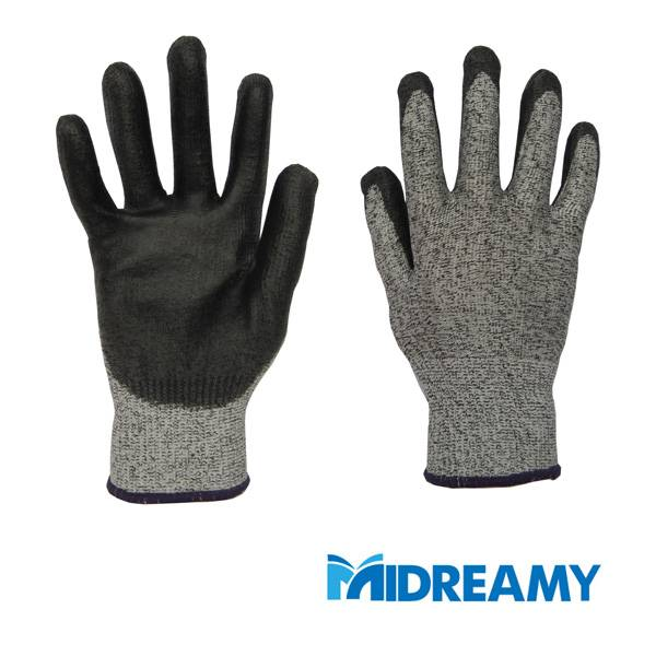 PU Coating HPPE Cut Resistant Gloves Made in China