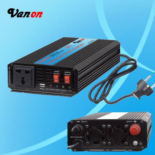 600W Power Inverter With Charger (modified sine wave, CE, ROHS Compliant) 12V to 240V UK type socket