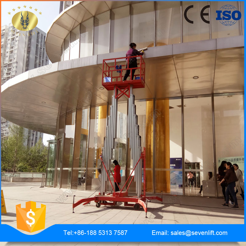 7LSJLII Shandong SevenLift wholesale aluminum hydraulic manlift for painting