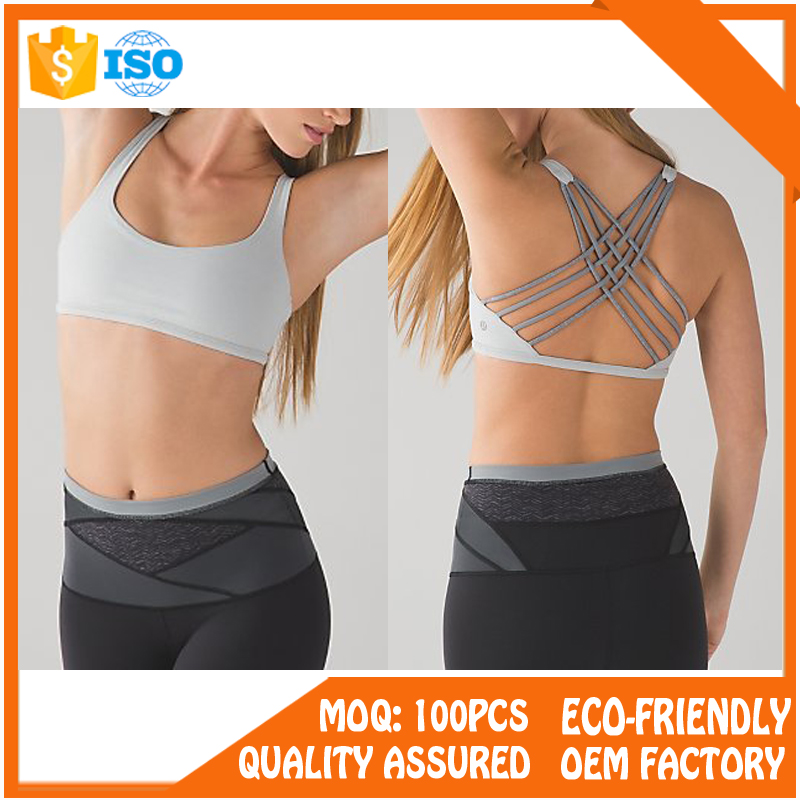 fabric quick dry cross back fitness wear women sport bra