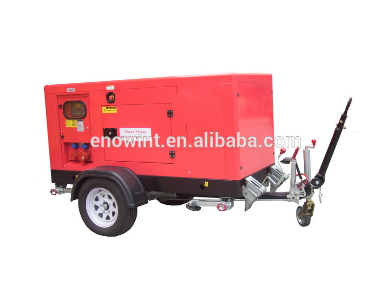 Trailer type diesel generator set