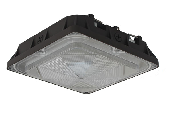 CLC Series UL DLC approved 45W/80W LED canopy lights for gas station and parking