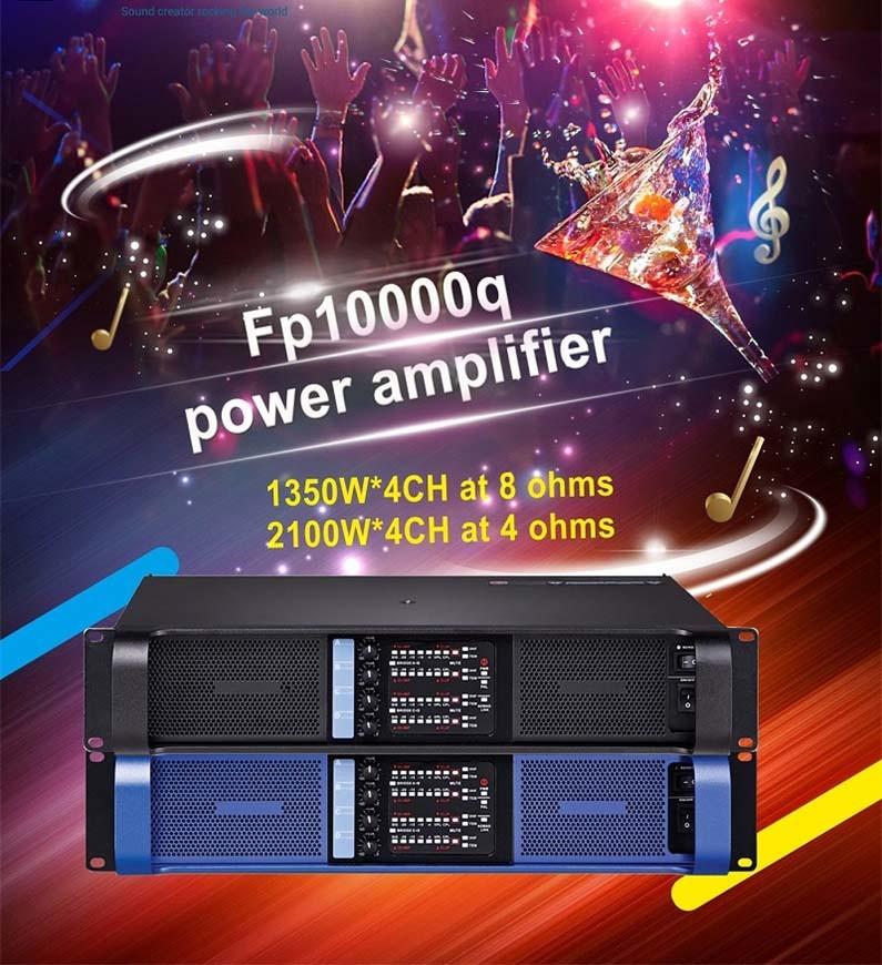 1000 Watt Power Amplifier 4 Channels Class Td Professional Power Amplifiers fp100000q
