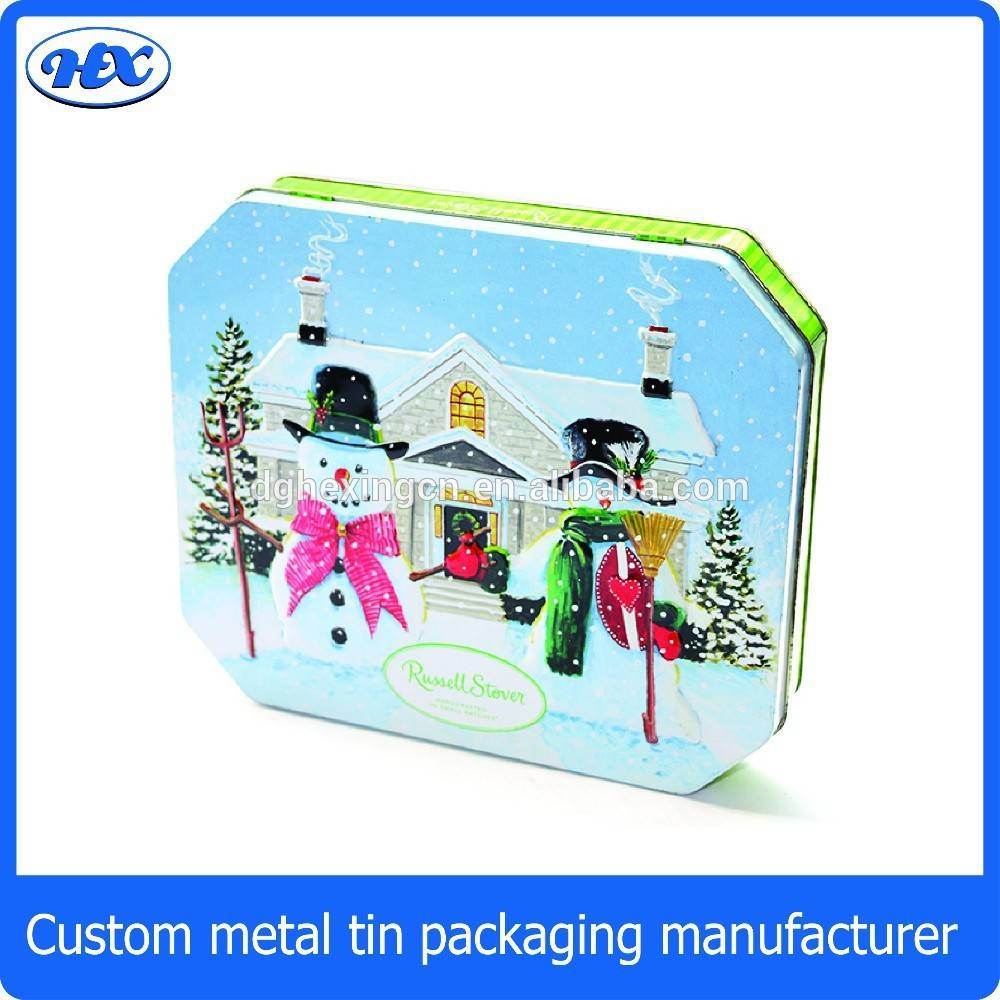 Octagonal decorative gift packaging chocolate tin boxes