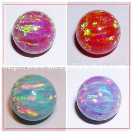 Diiferent Colors Opal Beads for Jewelry Hamsa Gemstone synthetic Opal