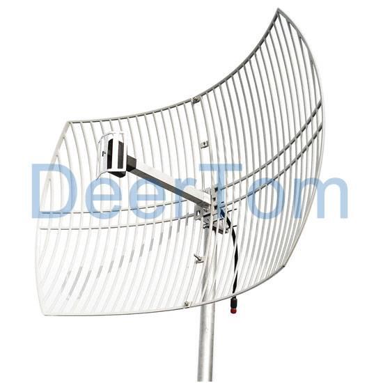 2500-2700MHz 2.6GHz 2.6G WIMAX 4G LTE Grid Parabolic Antenna 24dBi