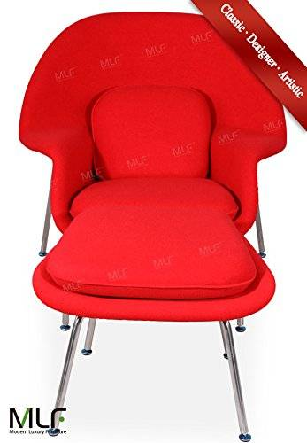 MLF Red Wool Eero Saarinen Womb Chair