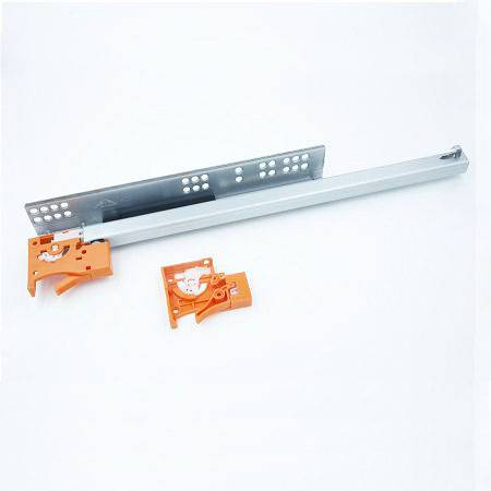 Two fold under mounted drawer slide with plastic clip, China supplier