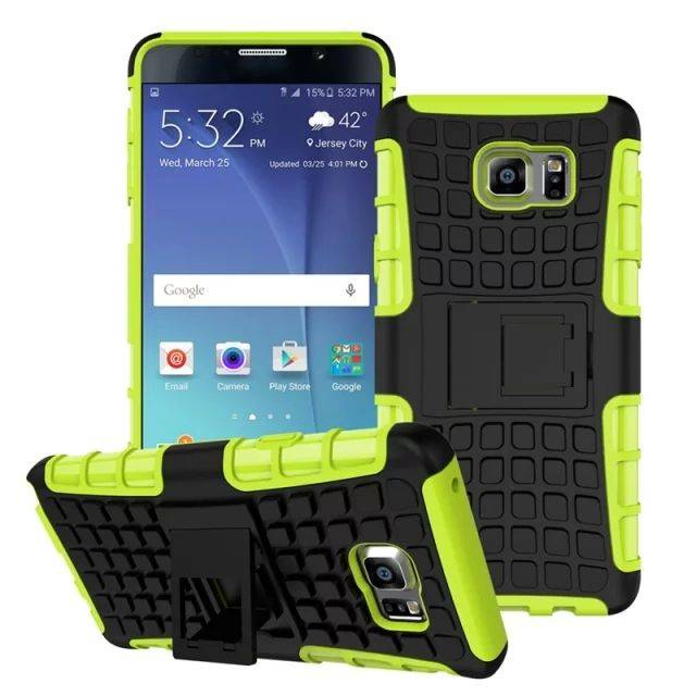 Soft Rubber Hybrid Combo Armor Defender Robot Stand Case TPU & PC Cover for Galaxy Note5 SGN5C01