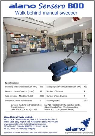 Alano 800: Manual Sweeper