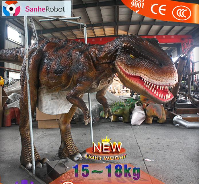 Attracts PeopleWalking with vivid lifelike adult Artificial Realistic Dinosaur Costume For Sale