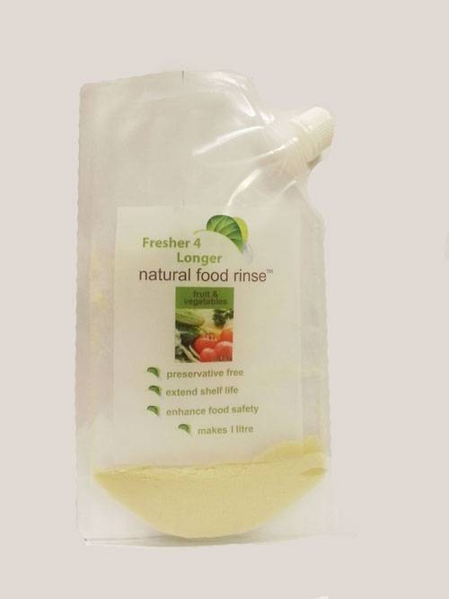 Fresher4Longer Natural Food Rinse - twin pack