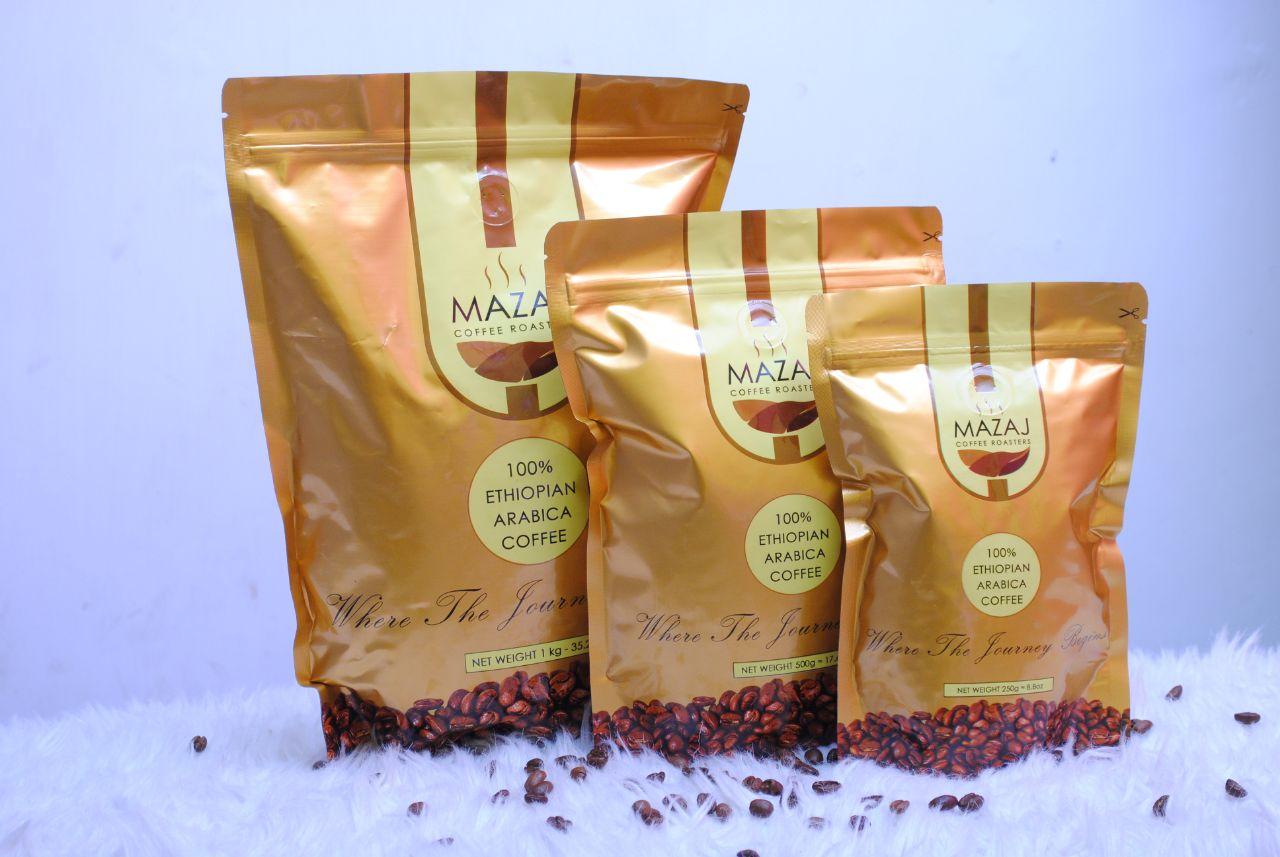 Roasted Ethiopian Arabica Premium coffee beans