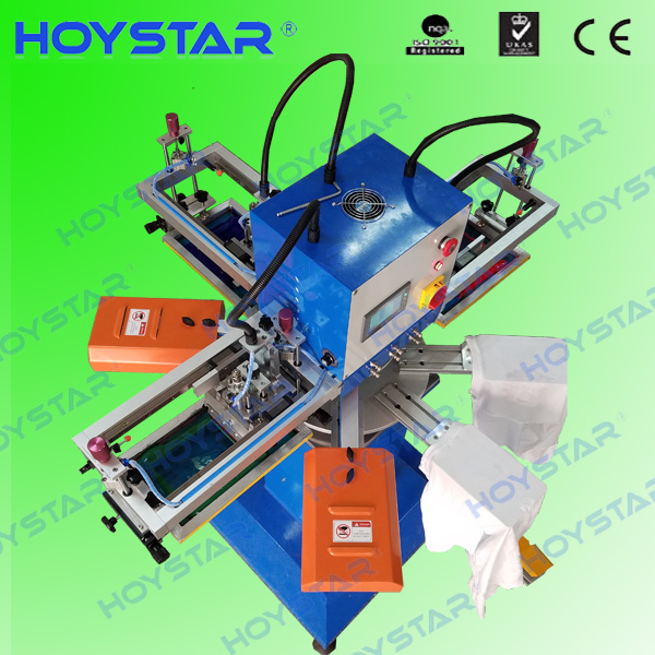 3color label rotary silk screen printing machine