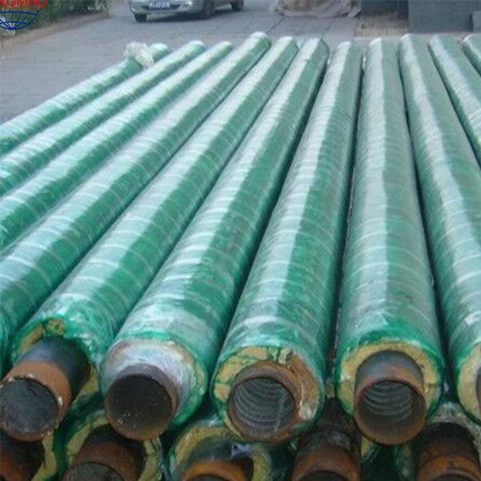 Glass reinforced plastic anti-corrosion thermal insulation pipe