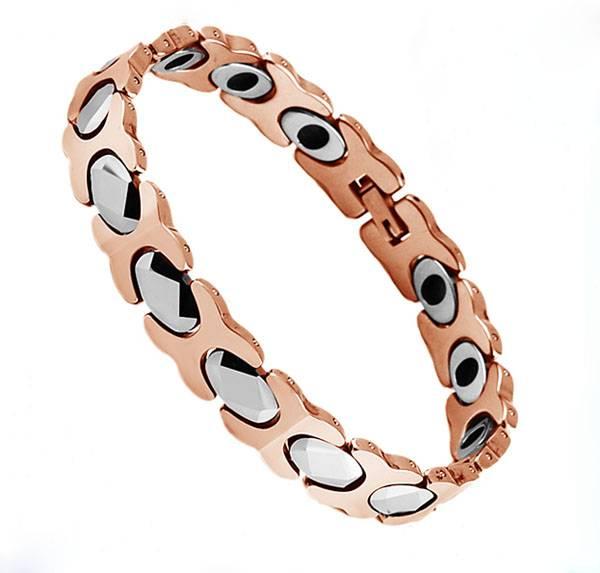 Display friendship tungsten rose gold germanium bracelet