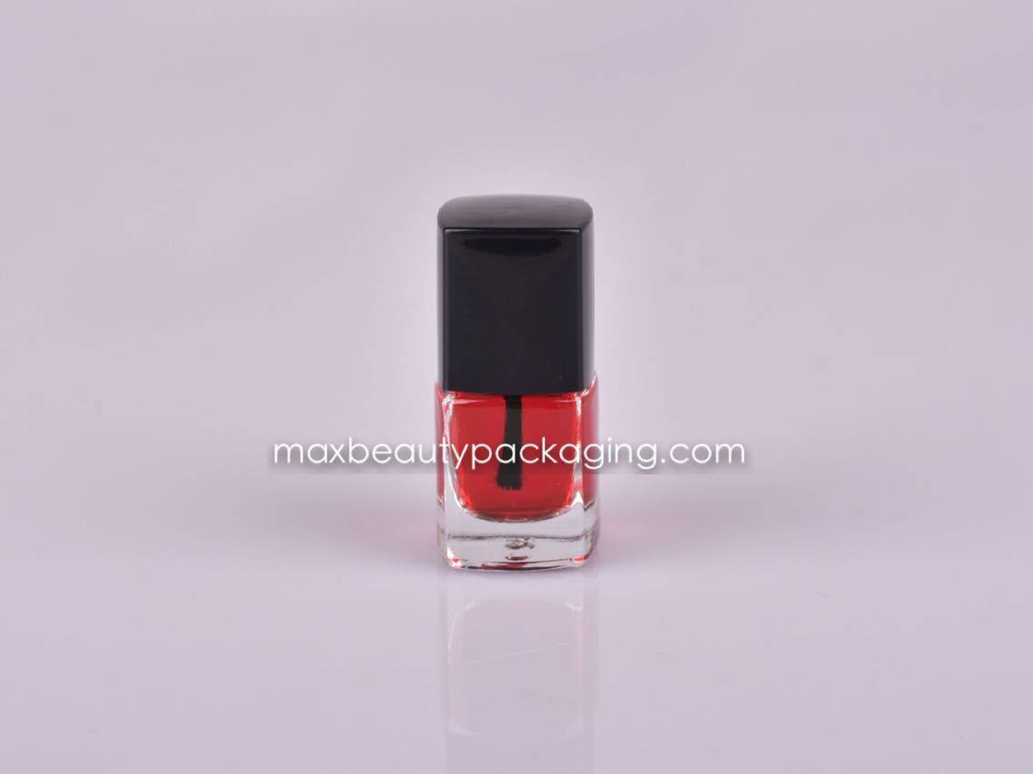 NP002 nail polish cap square nail polish 6ml bottle nail polish flat brush nail polish packaging