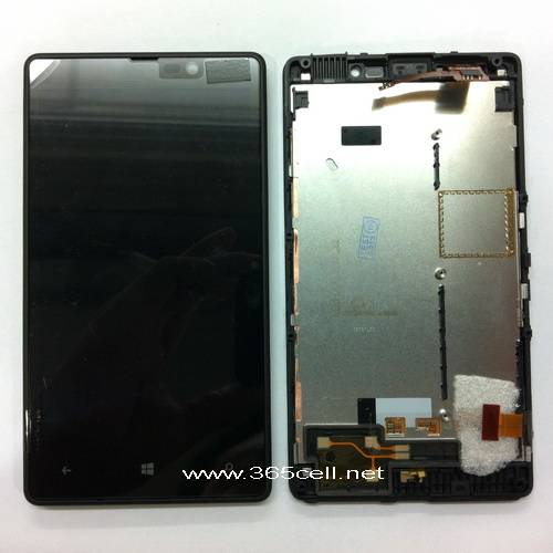Nokia Lumia 820 LCD and digitizer assembly w/frame