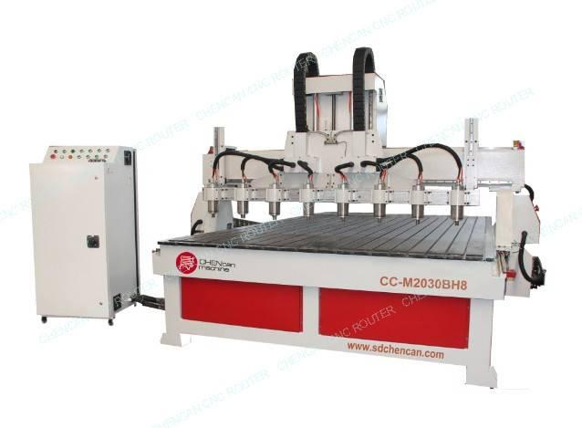 CUSTOM Eight SPINDLES REIEF ENGRAVING CNC ROUTER --CC-M2030BH8