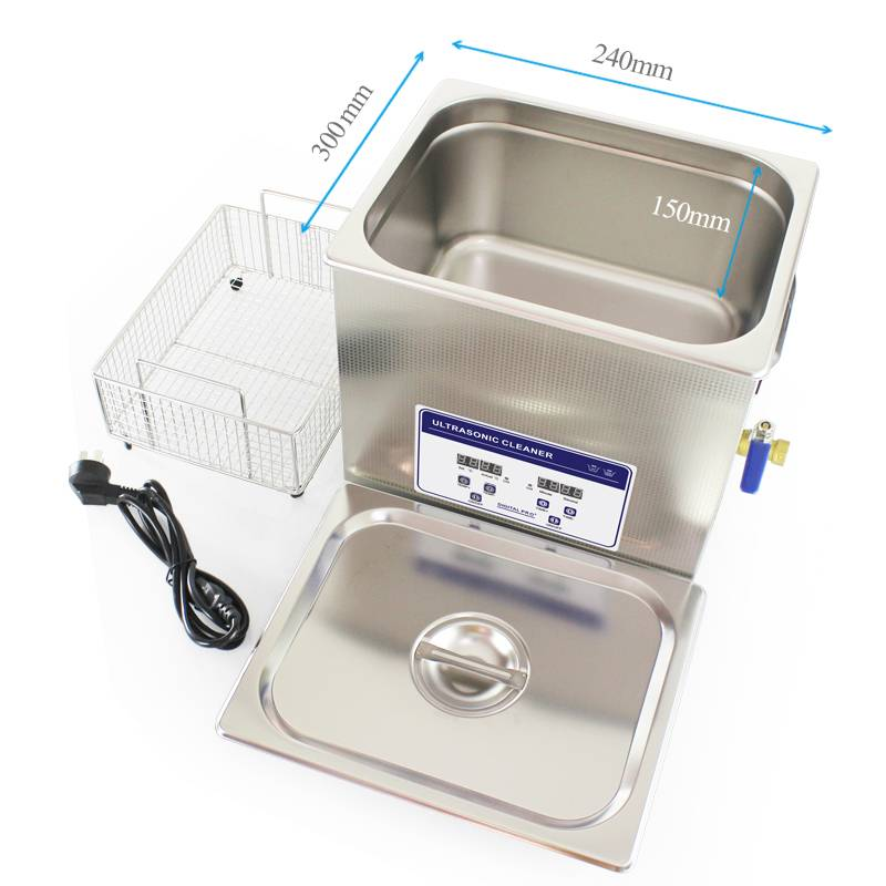 10L Ultrasonic cleaning machine with digital key for PCB and electronics parts
