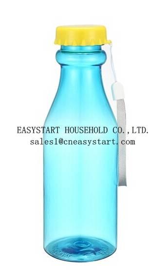18-21oz Portable Leak-proof water bottle,unbroken platic soda bottle,transparent soda drinking bottl