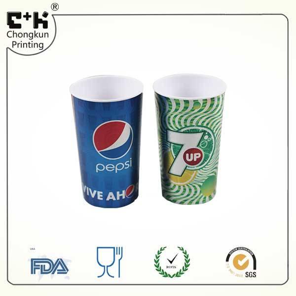 Promotional lenticular custom 3d cup/plastic cup 500ML