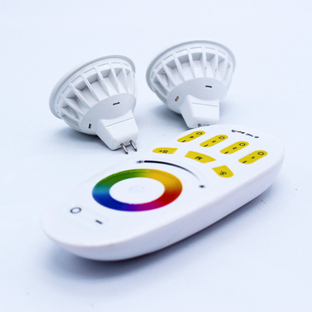 Home Decoration 2.4G 4W GU5.3 LED Spotlights Bulb RGBW RGBWW WIFI Smart Bulb Lamp AC12v 4Watt RGB +