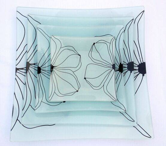 Tempered glass dishes/glass plates