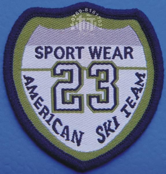 HOT SALE overlocked woven badge