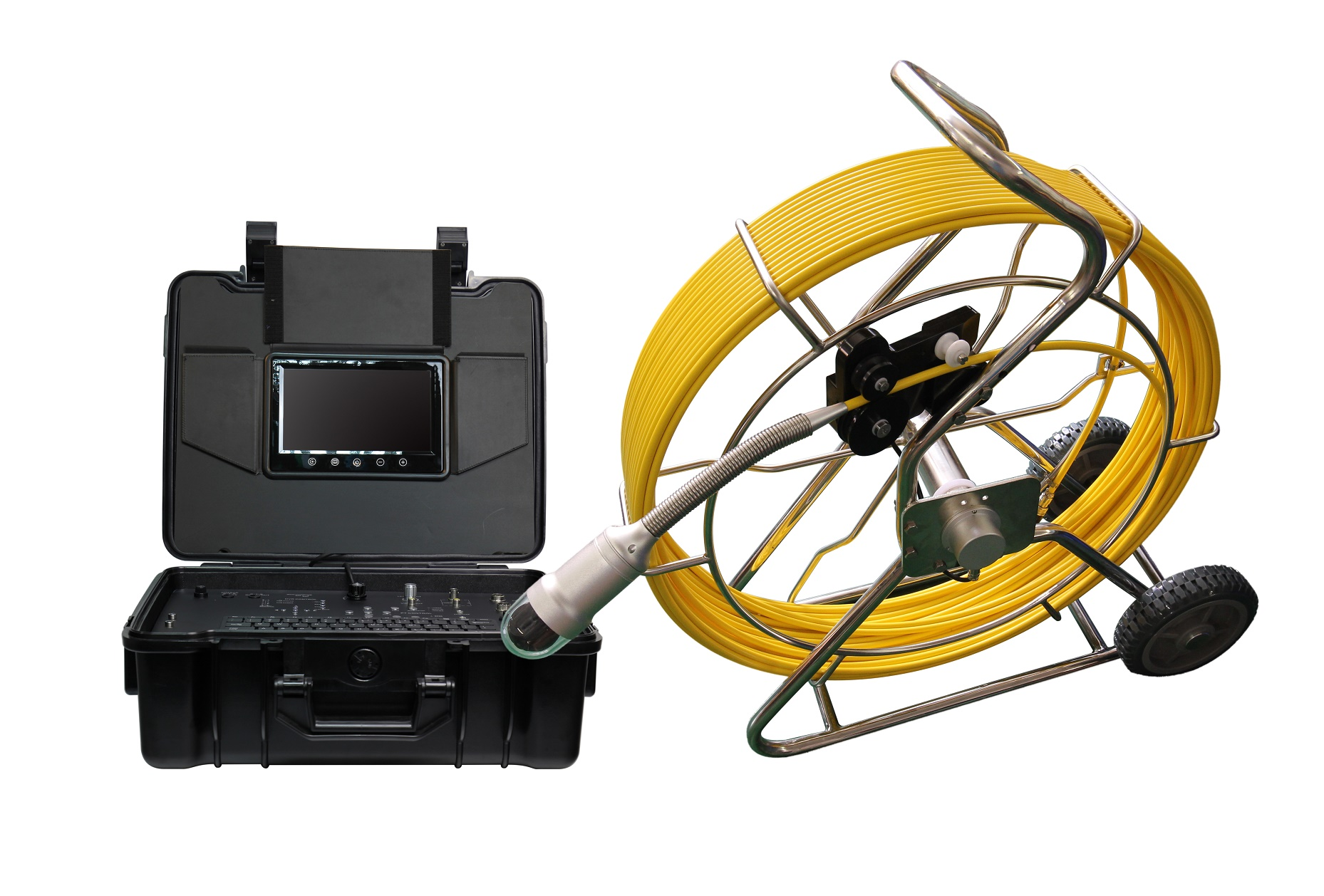 WOPSON 120m 360 rotation pipe sewer inspection camera