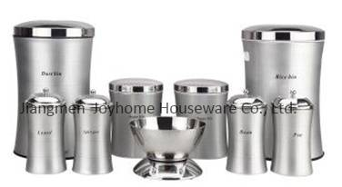 modern kitchenware stainless steel slim canister set