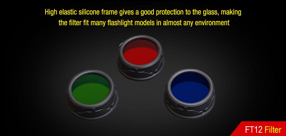 Filter for Flashlight-Klarus FT12