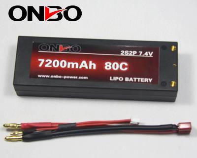 ONBO 7200mAh 80C 7.4v 2S2P Car lipo battery